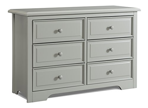 Pack Graco (Graco Brooklyn 6 Drawer Double Dresser, Pebble Gray, Kids Bedroom Dresser with 6 Drawers, Wood & Composite Construction, Ideal for Nursery, Toddlers Room, Kids Room)