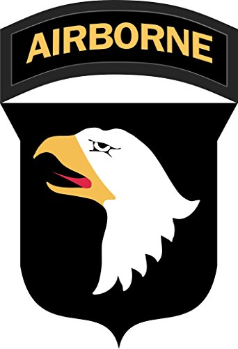 Military Vet Shop US Army 101st Airborne Division Patch Vinyl Transfer Window Bumper Sticker Decal 3.8