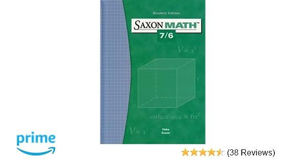 Saxon math 76 student edition 2004 saxon publishers saxon math 76 student edition 2004 saxon publishers 9781565775077 amazon books fandeluxe Images