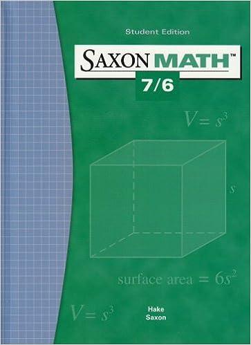Saxon math 76 student edition 2004 saxon publishers saxon math 76 student edition 2004 1st edition fandeluxe Image collections