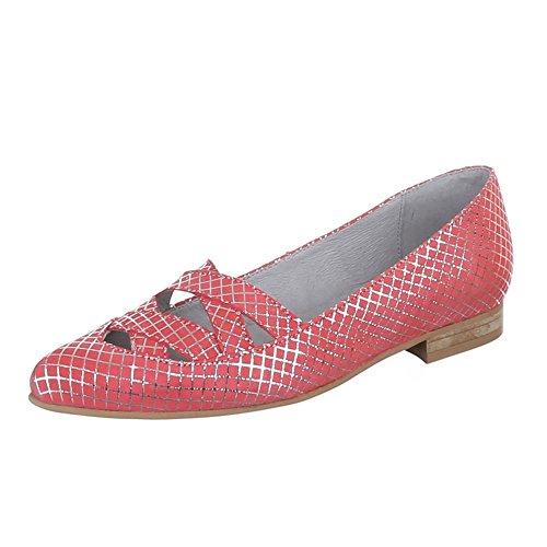 Ital-Design - Zapatos de Tacón Mujer Rojo - coral