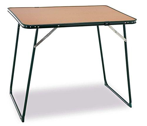 Solenny - Mesa plegable, tablero durolac de 78x58 cm, tubo de acero redondo,