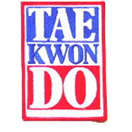 Tae Kwon Do Red White and Blue Patch
