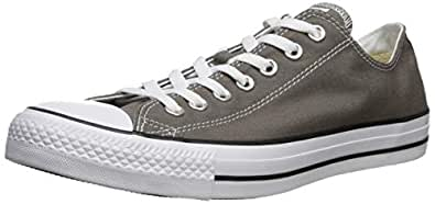 Converse Unisex Chuck Taylor All Star Ox Low Top Classic Charcoal Sneakers - 7.5 B(M) US Women / 5.5 D(M) US Men