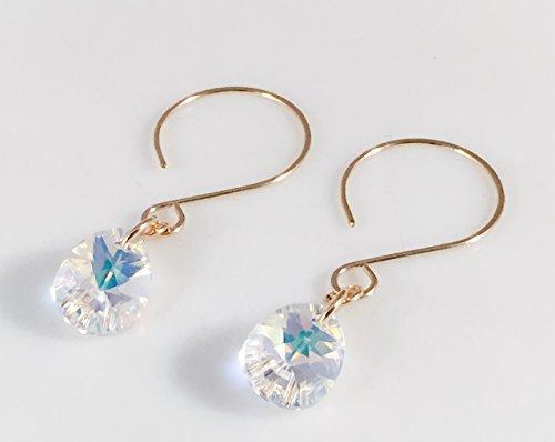 - Crystal Teardrop 14K Gold Filled HoopmDrop Earrings