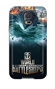 New Premium EvLvEaX9678EWeFa Case Cover For Galaxy S5/ World Of Battleships Protective Case Cover