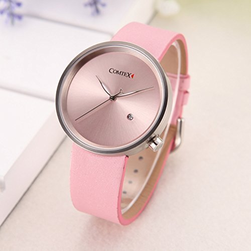Comtex Womens Urban Fashion Pink-Tone Quartz Casual Watch
