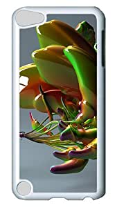 iPod Touch 5 Case, Abstract Glass Art PC Hard Plastic Case Cover for Apple iPod Touch 5/ iPod 5th Generation White