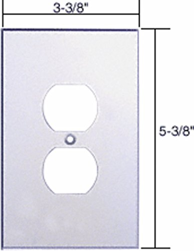 Duplex Plug Glass Mirror Plate - CRL Clear Single Duplex Plug Acrylic Mirror Plate