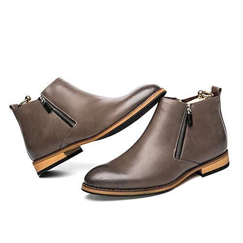 uomini Stivaletto Walking EU Grau britannico Grau libero alta Primavera moda 40 Top Xiaojuan shoes Estate stile ad tempo classico Boot 2018 tHnwTC5x7q