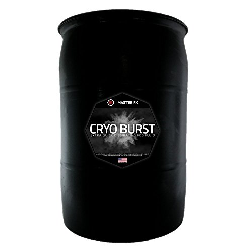 (Cryo Burst - Extra Quick Dissipating Water-Based Fog Fluid - CO2 Blast Effect for LED Upshot Foggers. (55 Gallon Drum))