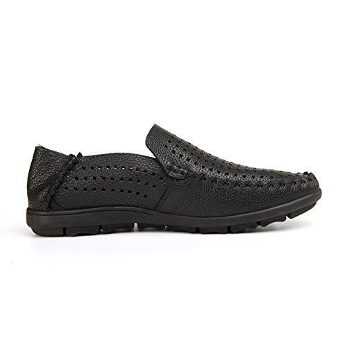 Chaussures Cuir Mesh Hommes Work Confort Formelle Noir GLSHI Chaussures En Respirant Papa Business Casual D'été Pour Chaussures Chaussures qXtnqvdw