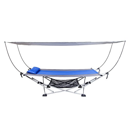Mac Sports Portable Fold Up Hammock with Removable Canopy & Carry Case (Hammock Stand Costco)