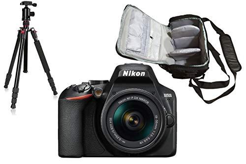 KamKorda Camera Shoulder Bag + Tripod + D3500 DSLR Camera with AF-P 18-55mm VR Lens (Black) + 2 Year Warranty