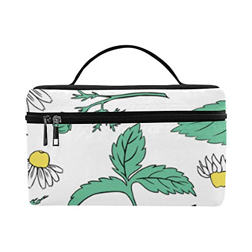 Lunch Box Tote Bag Blue Mint Leaves And Mint Flowers Lunch Container Lightweight For Men Women Kids Childern Gym School Boating