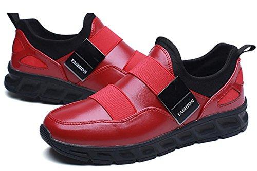 CSDM Uomini Nuovi sport di moda di moda di svago Scarpe di peluche luminose di Runnig di pallacanestro , red , 39