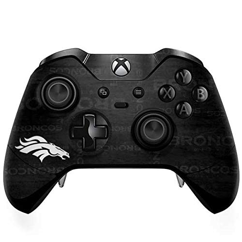 Skinit Denver Broncos Black & White Xbox One Elite Controller Skin - Officially Licensed NFL Gaming Decal - Ultra Thin, Lightweight Vinyl Decal Protection