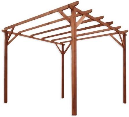 Pergola impregnado de madera de pino para jardín 3 x 3 m: Amazon ...
