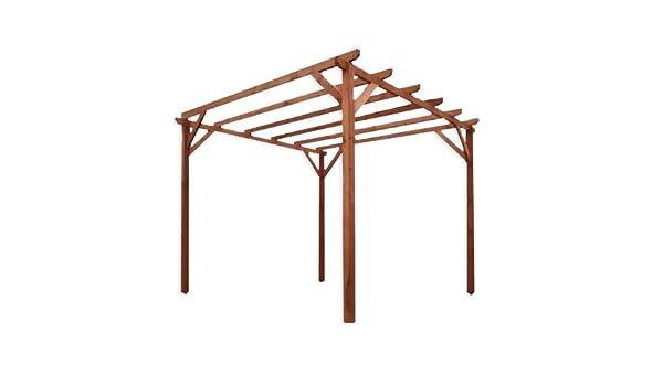 Pergola impregnado de madera de pino para jardín 3 x 3 m: Amazon.es: Hogar