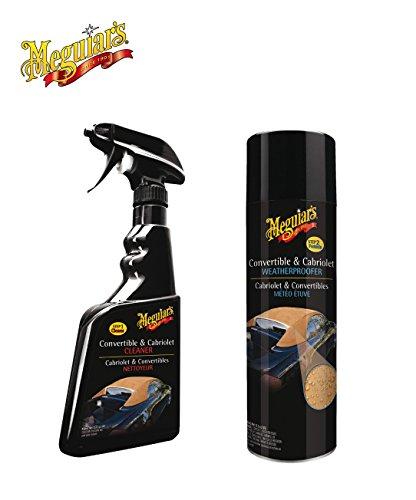 PRAKTISCHES PREMIUM SET! MEGUIAR'S CONVERTIBLE & CABRIOLET REINIGER Cabrio Verdeck Reiniger + MEGUIAR'S CONVERTIBLE & CABRIOLET IMPRÄGNIERUNG Cabrio Verdeck-Imprägnierer