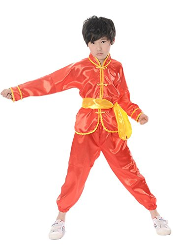 Yanzi6 Kids Chinese Kung Fu Unifrom Performance Wear (170cm, - Fu Clothes Kung Chinese Pants