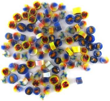 Hip to be Square Murrine SQ01-96 Millefiori COE 96 Glacial Art Glass