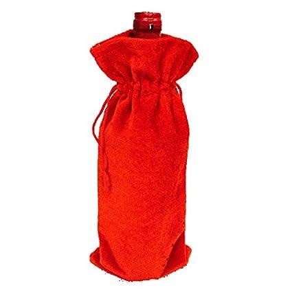 Inovey Bolsas De Cubiertas De Botellas De Vino Tinto Decoración De Mesa De Navidad Decoración De
