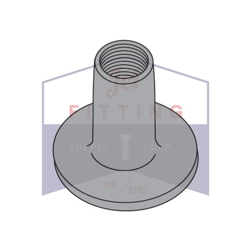 3//4 Base Diameter 7//16 Barrel Height 1//4-20 Round Base Weld Nuts//No Projections//Steel//Plain Quantity: 1,000 pcs