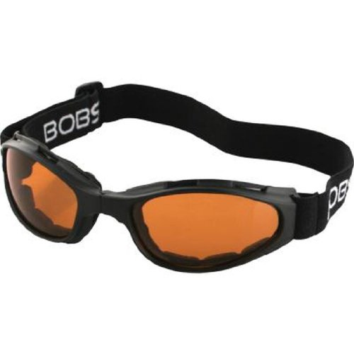 Bobster Crossfire Folding Adult Cruiser Motorcycle Goggles Eyewear - Black/Amber / One Size Fits All Crossfire Folding Goggles