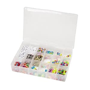 Darice 10762 Plastic Bead Organizer with 17 Compartments, Clear