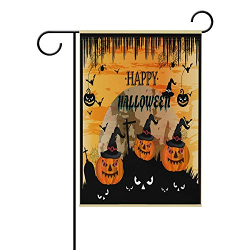 Wamika Happy Halloween Black Cat Pumpkin Double Sided House