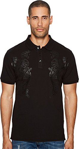 Just Cavalli  Men's Baroque Polo Black - Just Cavalli Men