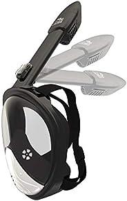 Full Face Snorkel Mask - Diving Set Tube Anti-Fog Anti-Leak Design - Waterproof Case Phone Earplugs - GoPro Ad