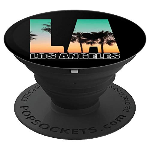 Los Angeles Shirt LA Palm Tree Sunset Boulevard PopSockets Grip and Stand for Phones and Tablets]()