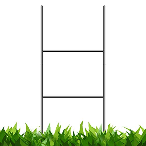Vibe Ink Heavy Duty Metal H-Stakes H Frame Wire Stakes - Yard Sign Stake - Use with 4mm Corrugated Signs (100, 24