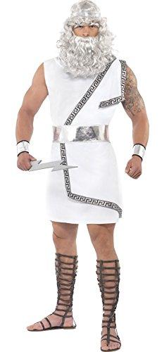 Mens Zeus Greek God Legend Myth Mythology Hero Stag Do Fancy Dress Costume Outfit Medium (Medium) ()