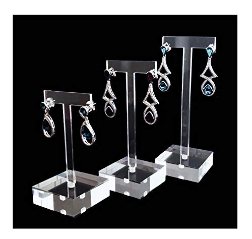 Svea Display for Jewelry Earrings High End Clear Acrylic Stands Blocks for Trade Show Photo Gallery Store Exhibit Presentation Set of 3PCs