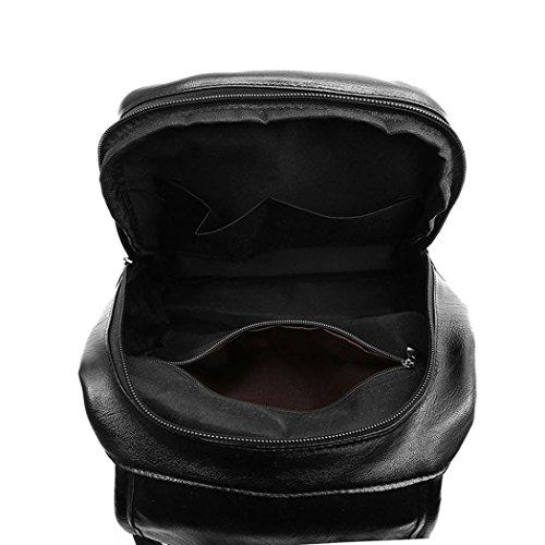 Cuir Faux bandoulière Femme Sacs main Sacs Noir Sacs portés dos portés DEERWORD x8nR0Cqwx