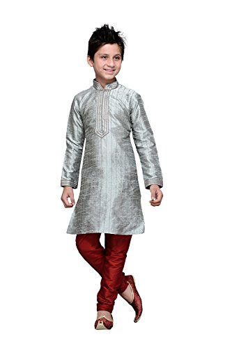 Indianfashion Store Indian Designer Partywear Ethnic Wedding Grey Wedding Readymade Kids by Indianfashion Store