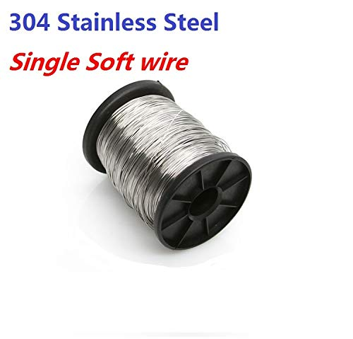 Ochoos Diameter 0.2-0.3-0.4-0.5-0.6-0.8-1.0-1.5-2.0-2.5-3.0MM Soft 304 Stainless steel wire single wire rope Cold drawn soft cable - (Size: 50M Length x 2.0MM)