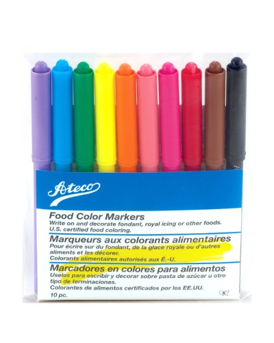 Amazon.com: Ateco Food-Coloring Markers, Fine Writing Tip: Kitchen ...
