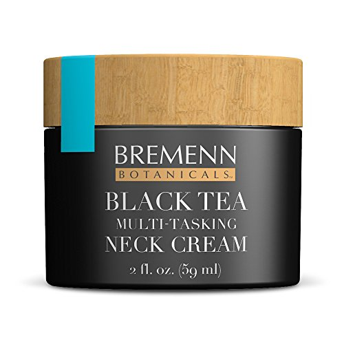 Black Tea Skin Care Multi-Tasking Neck Cream - Topical Compound for Younger, Healthier, More Vibrant-Looking Skin and Increased Elasticity, Toning, and Suppleness, (2 fl. oz.) by Bremenn Research Labs