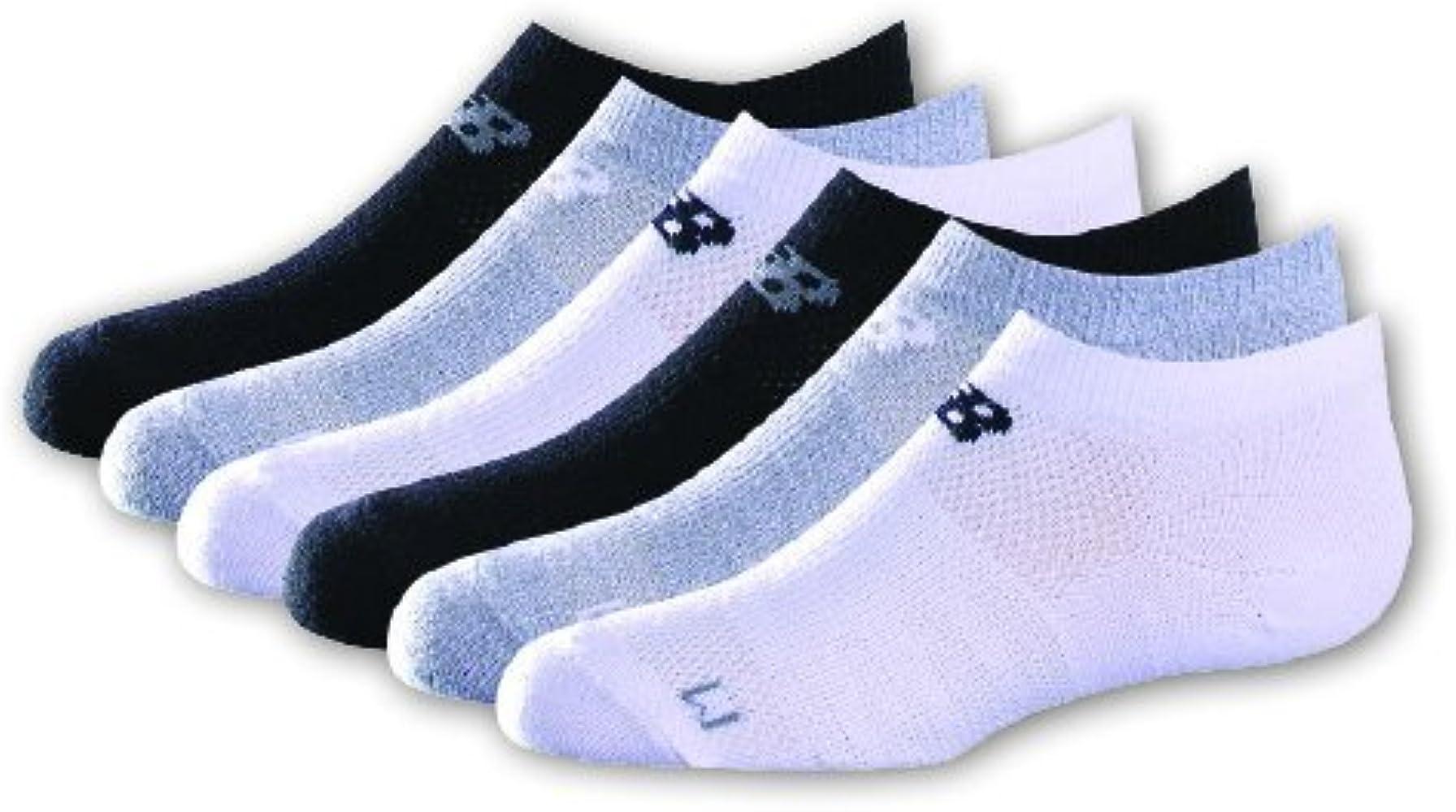 acb2be76424d1 Amazon.com: New Balance Kids Unisex 6 Pack No Show Socks: Clothing