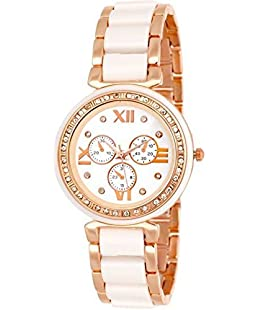 NEO VICTORY Luxury Analogue White Dial Women's and Girls Watches