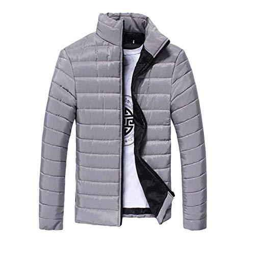 Corta Il Zip Con Cappotto Uomini Bobolily Manicotto Grau Down Outwear Inverno Giacca Di Lungo Degli zdZaqzxw