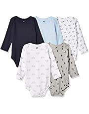 Hudson Baby Body unisex de algodón de manga larga para bebé