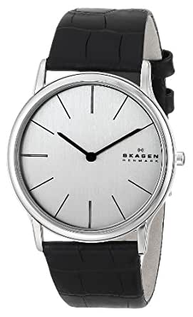 Skagen Men's 858XLSLC Theodor Black Leather Watch