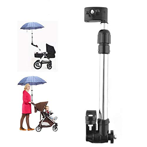 Leyeet Adjustable Stainless Steel Umbrella Mount Stand Wheelchair Bicycle Umbrella Connector Stroller Umbrella Holder