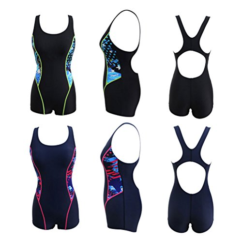 Zhhlaixing 2 Colors Womens Quick-dry Swimwear Fashion Elasticity Swimsuit 6102 Black