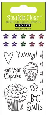 Hero Arts Cupcake (Cupcakes Sparkle Clear Stamps (Hero Arts) CL168)